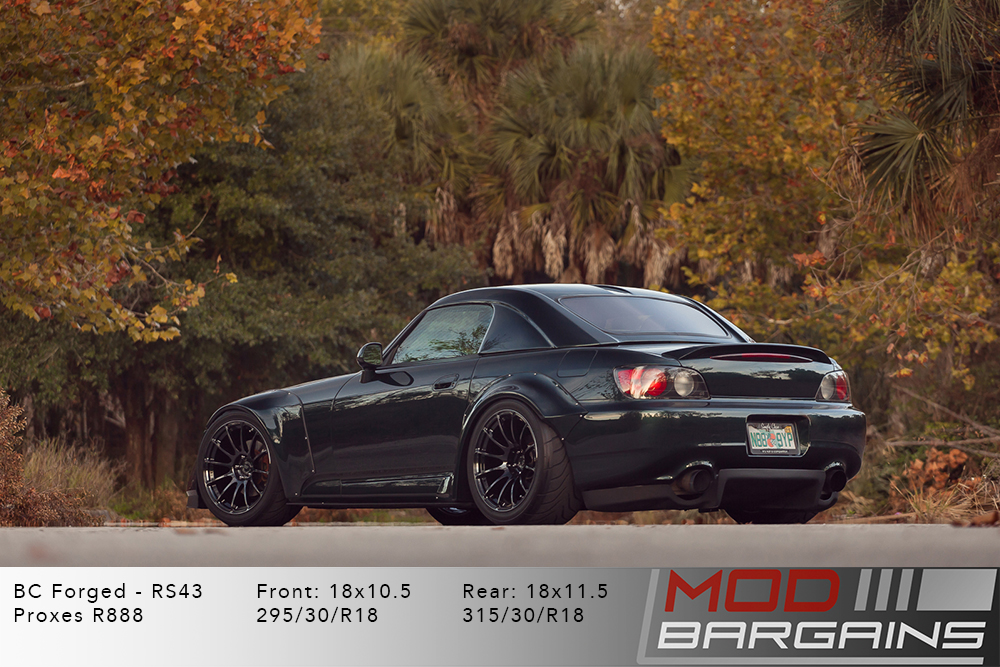 Honda AP2 S2000 S2K Green BC Forged RS43 Matte Black Wheels Modbargains