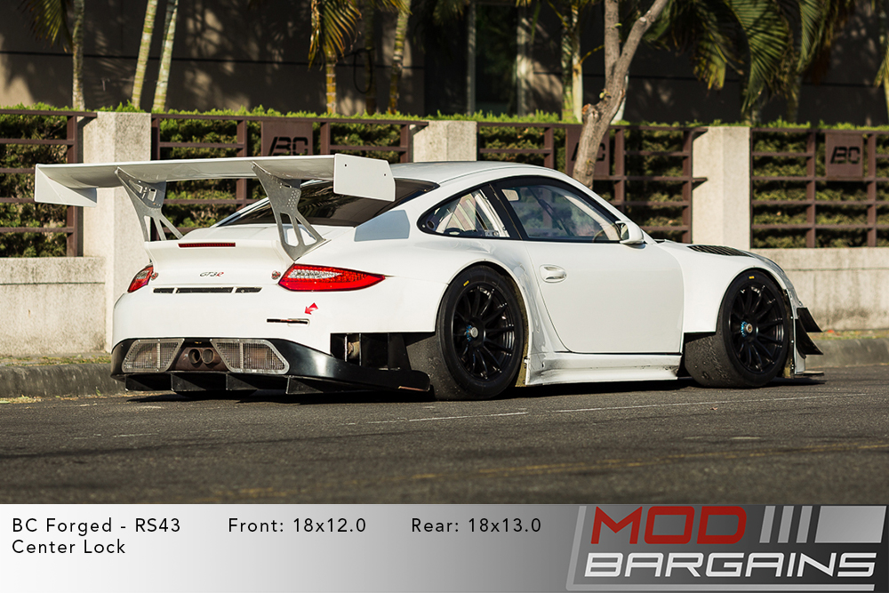 Porsche 997.2 911 BC Forged RS43 Matte Black Wheels Modbargains