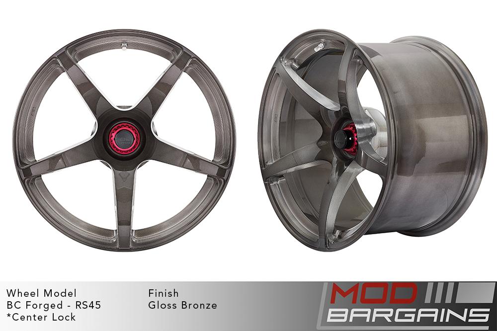 BC Forged RS45 Monoblock Forged Aluminum 12 Spoke Concave Wheels Matte Black Modbargains
