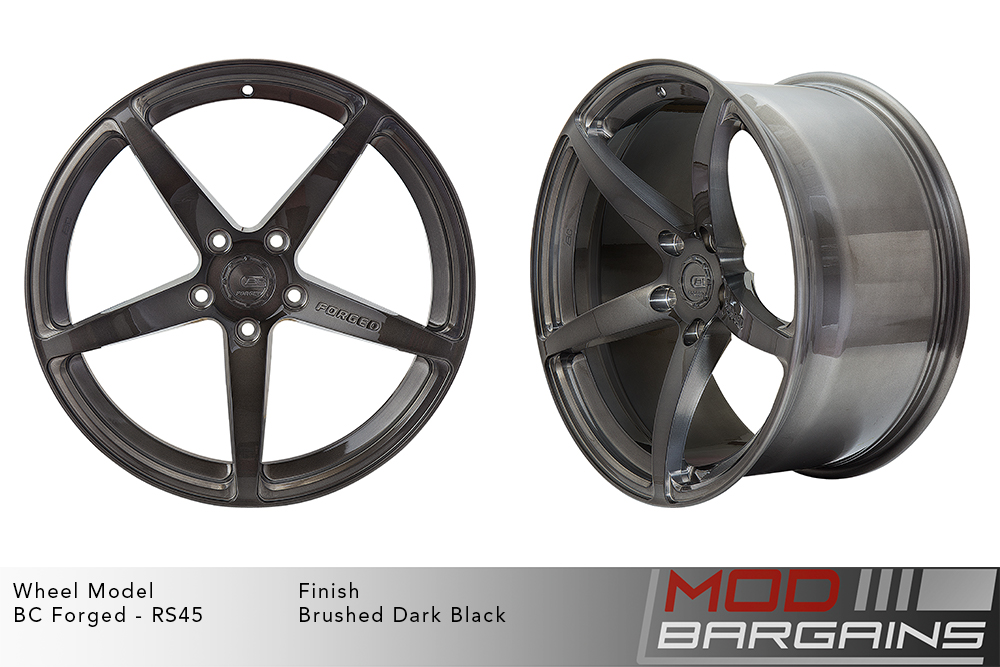 BC Forged RS45 Monoblock Forged Aluminum 12 Spoke Concave Wheels Brushed Clear Silver Modbargains