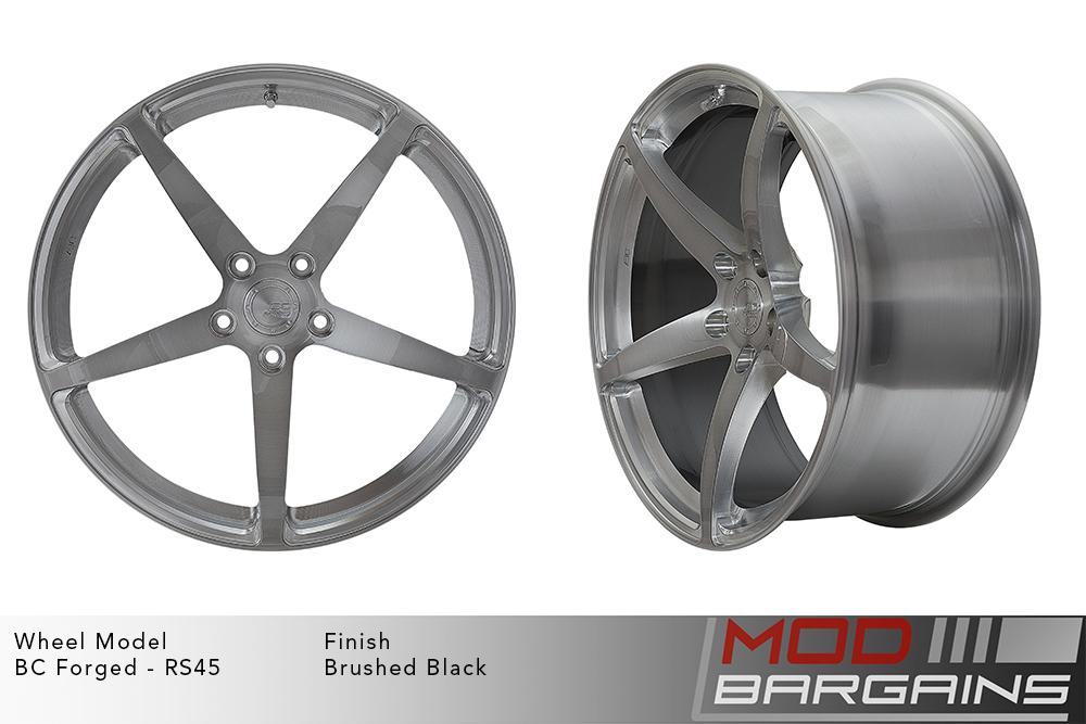 BC Forged RS45 Monoblock Forged Aluminum 12 Spoke Concave Wheels Brushed Black Gunmetal Modbargains