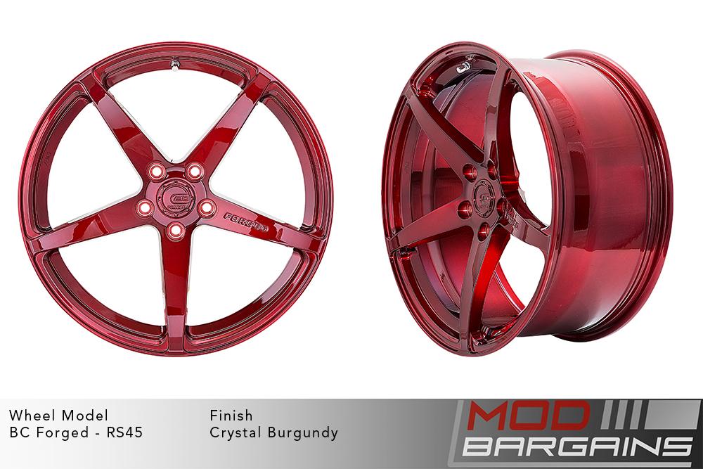 BC Forged RS45 Monoblock Forged Aluminum 12 Spoke Concave Wheels Gloss Black Modbargains