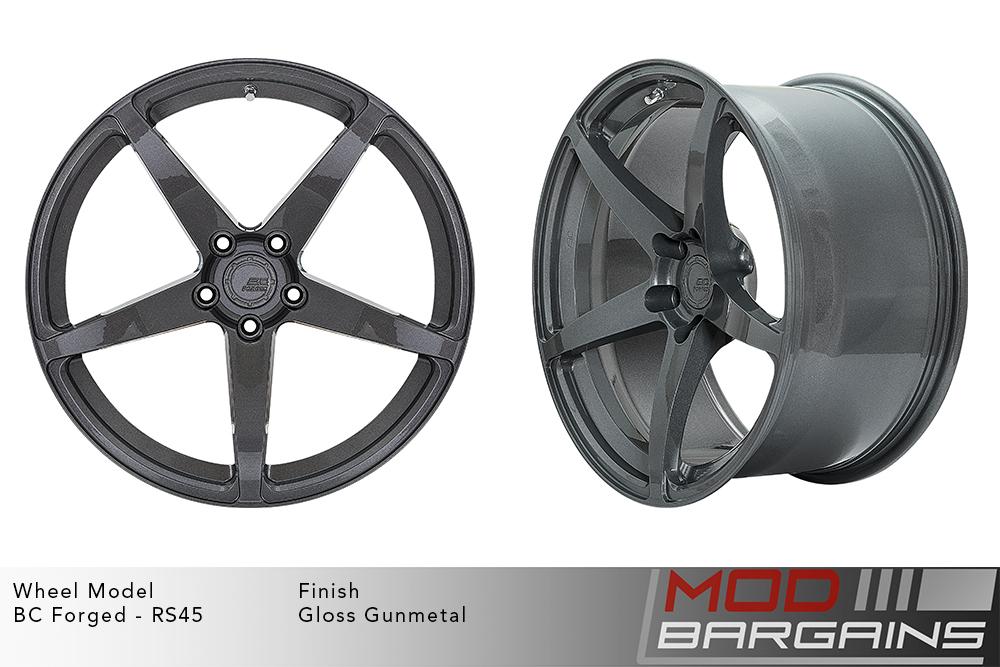 BC Forged RS45 Monoblock Forged Aluminum 12 Spoke Concave Wheels Matte Gunmetal Modbargains