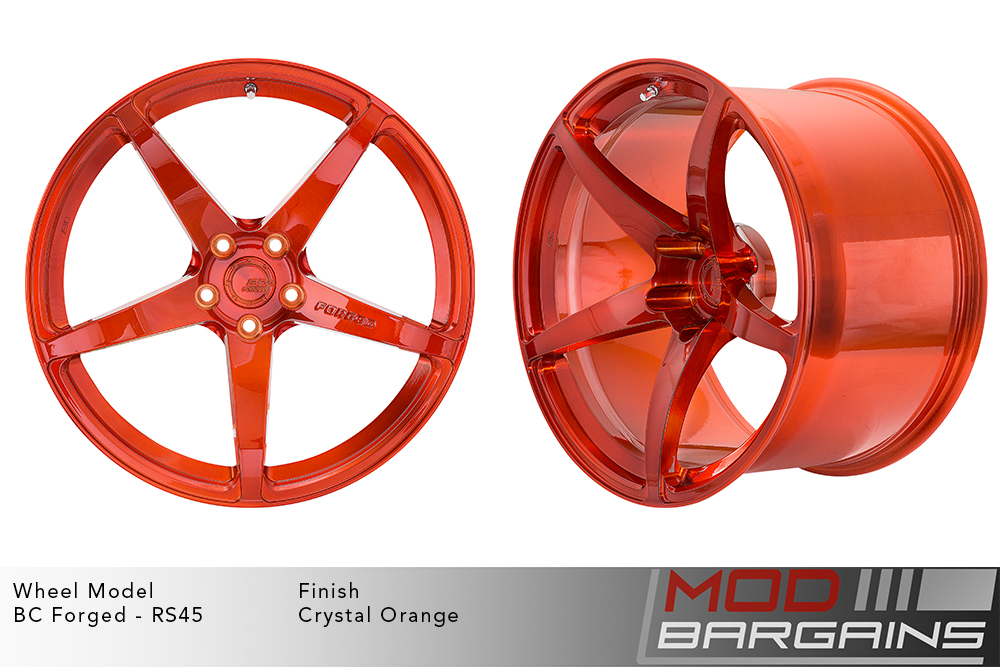 BC Forged RS45 Monoblock Forged Aluminum 12 Spoke Concave Wheels Brushed Royal Gold Modbargains