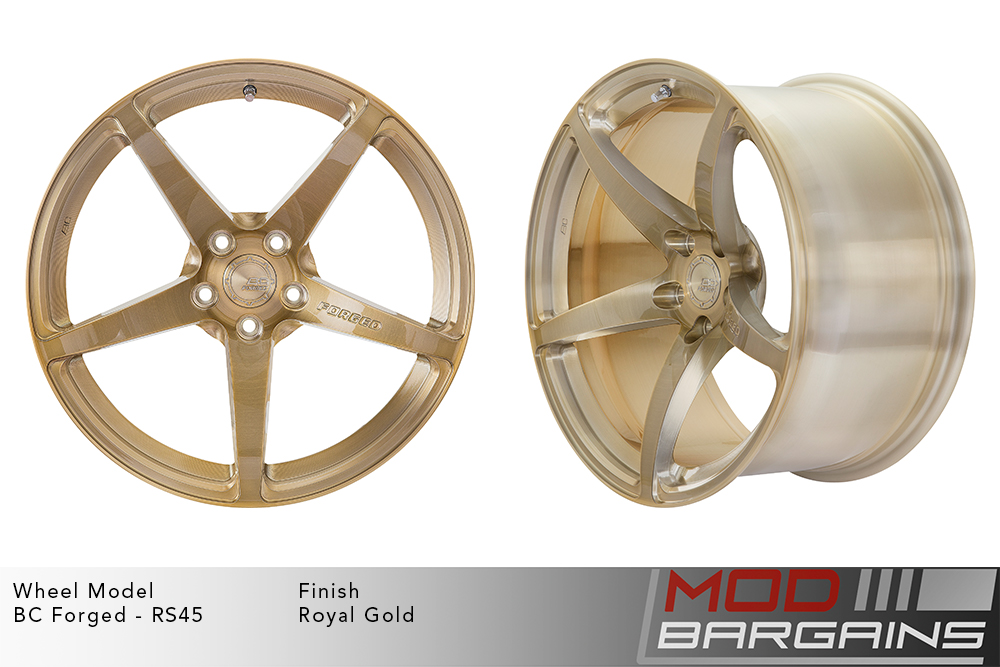 BC Forged RS45 Monoblock Forged Aluminum 12 Spoke Concave Wheels Matte Bronze Modbargains