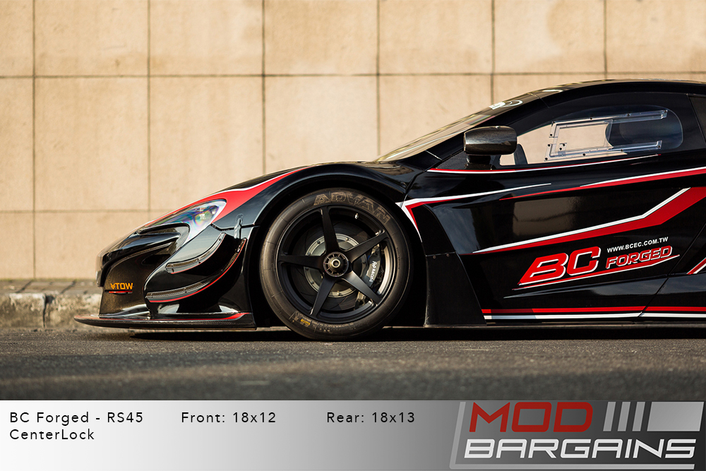 McLaren 650S GT3 Race BC Forged RS45 Matte Black Center Lock Wheels Modbargains