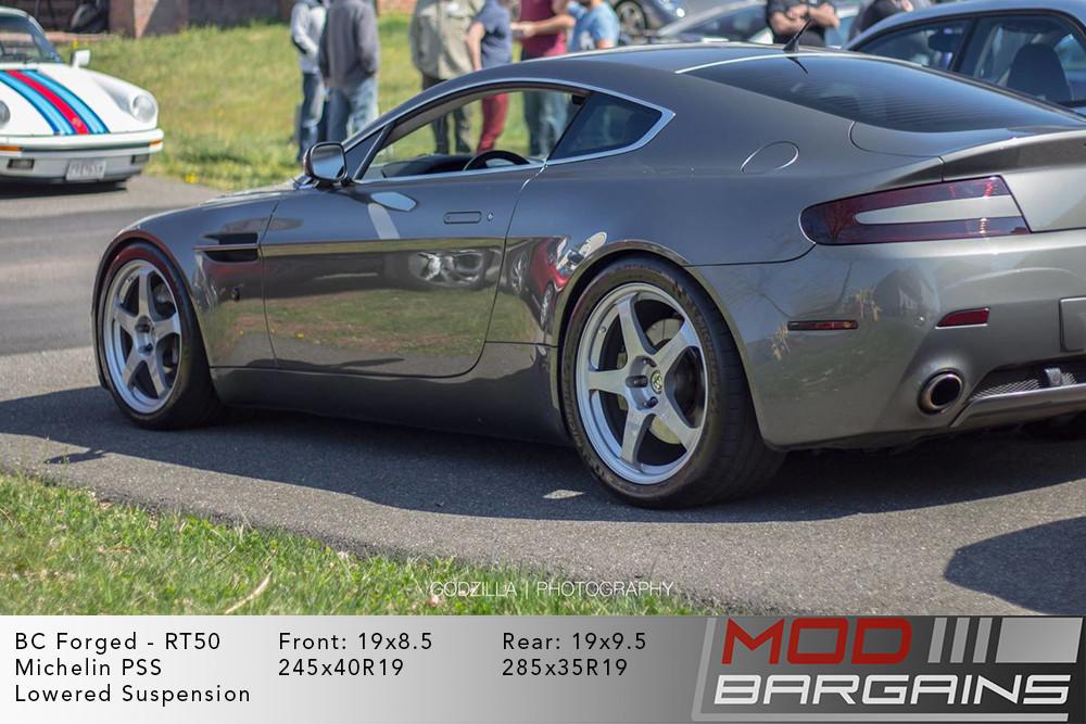 2007 Aston Martin V8 Vantage Grey BC Forged RT50 Silver Wheels Modbargains