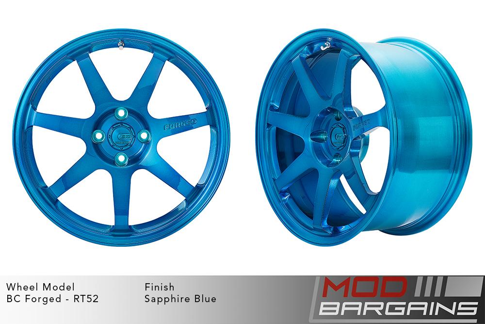 BC Forged RT52 Monoblock Forged Aluminum 7 Spoke Mild Concave Sapphire Blue Wheels Modbargains