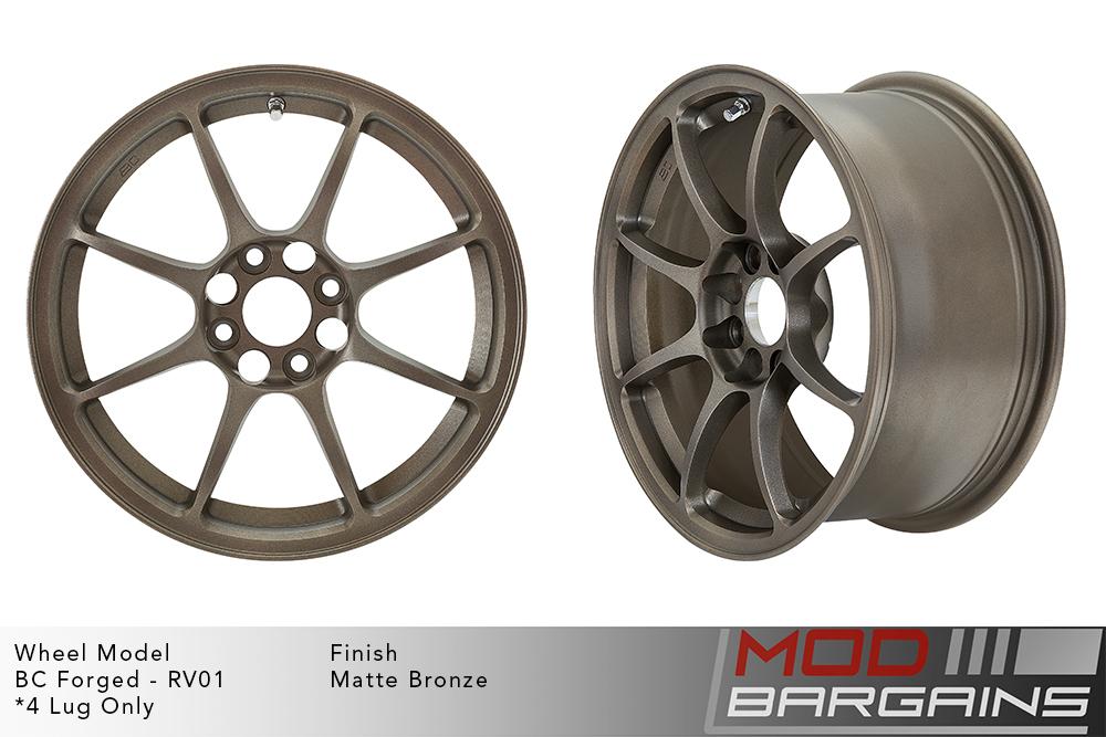 BC Forged RV01 Monoblock Forged Aluminum 8 Spoke Concave Matte Bronze Wheels Modbargains