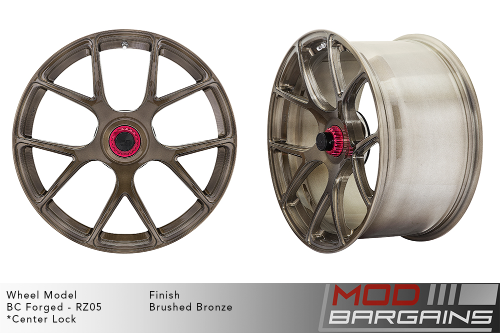 BC Forged RZ05 Monoblock Forged Aluminum Split 5 V Spoke Concave Wheels Brushed Bronze Modbargains