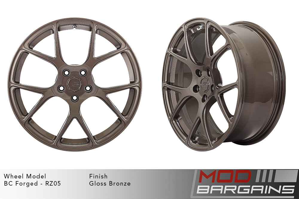 BC Forged RZ05 Monoblock Forged Aluminum Split 5 V Spoke Concave Wheels Gloss Bronze Modbargains