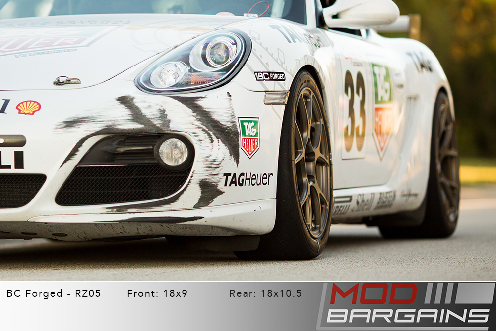 Porsche Cayman 982 BC Forged RZ05 Matte Bronze Wheels Modbargains