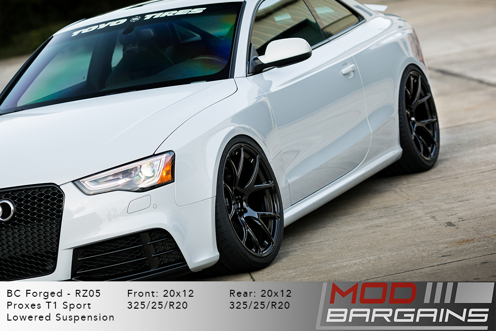 Audi B8.5 RS5 S5 A5 BC Forged RZ05 Gloss Black Wheels Modbargains