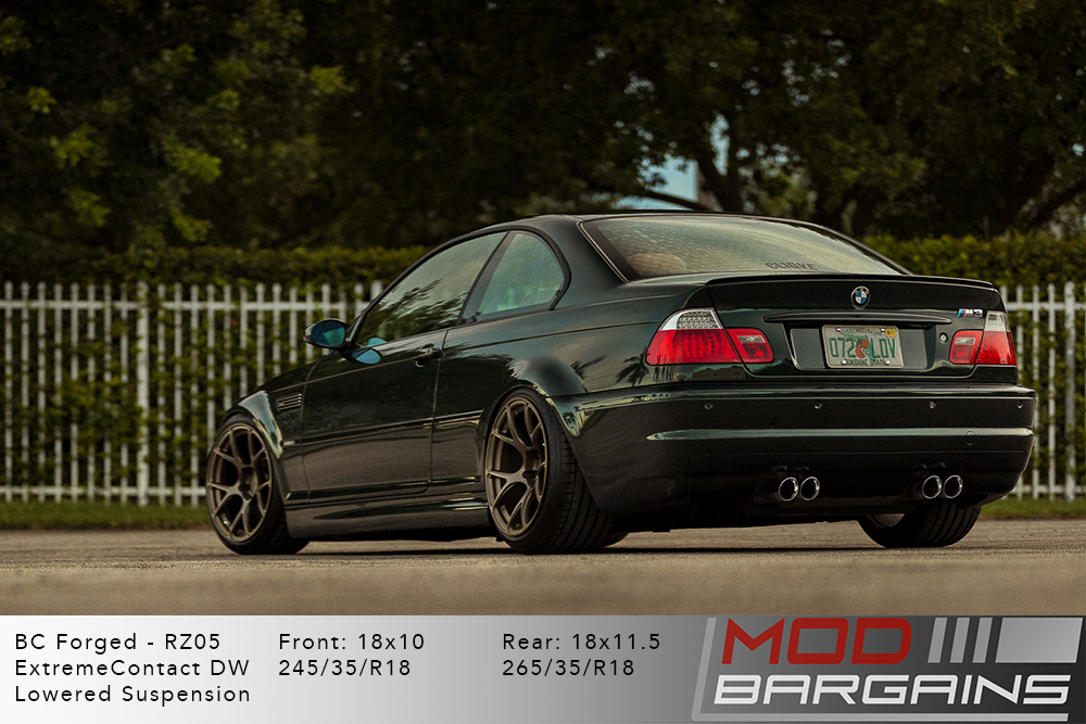 BMW E46 M3 BC Forged RZ05 Bronze Wheels Modbargains
