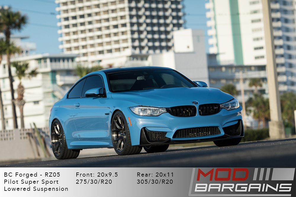 BMW F82 M4 BC Forged RZ05 Gunmetal Brushed Dark Black Wheels Modbargains
