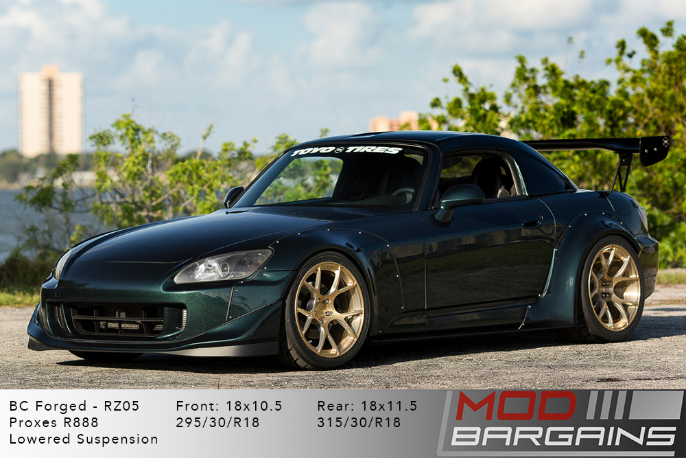 Honda S2000 S2k BC Forged RZ05 Royal Gold Wheels Modbargains