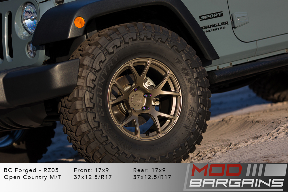 Jeep Wrangler BC Forged RZ05 Matte Bronze Wheels Modbargains