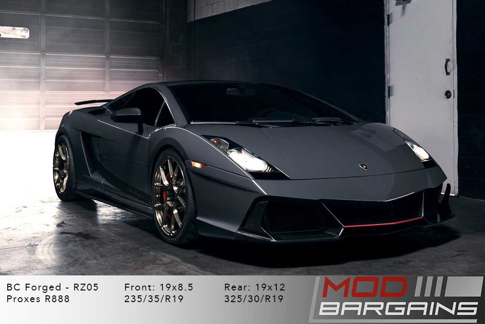 Lamborghini Gallardo BC Forged RZ05 Brushed Bronze Wheels Modbargains