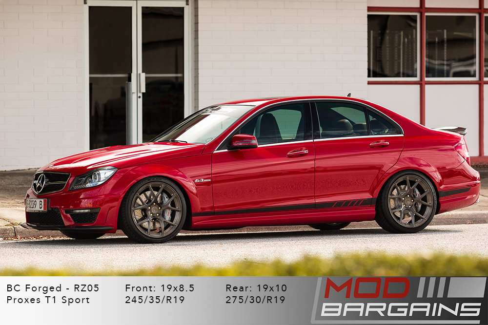 Mercedes W204 C63 AMG Sedan BC Forged RZ05 Brushed Black Wheels Modbargains