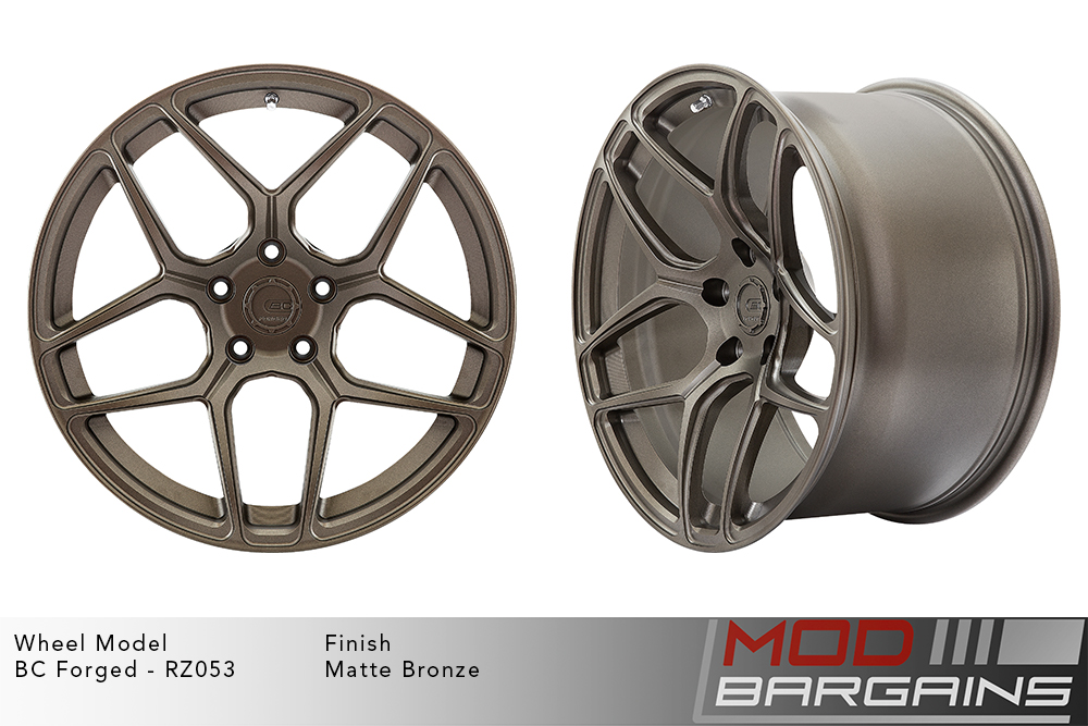BC Forged RZ053 Monoblock Forged Aluminum Split 5 Spoke Concave Wheels Matte Bronze Modbargains