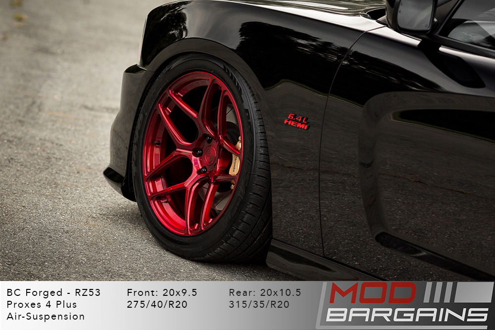 Dodge Charger BC Forged RZ053 Red Wheels Modbargains