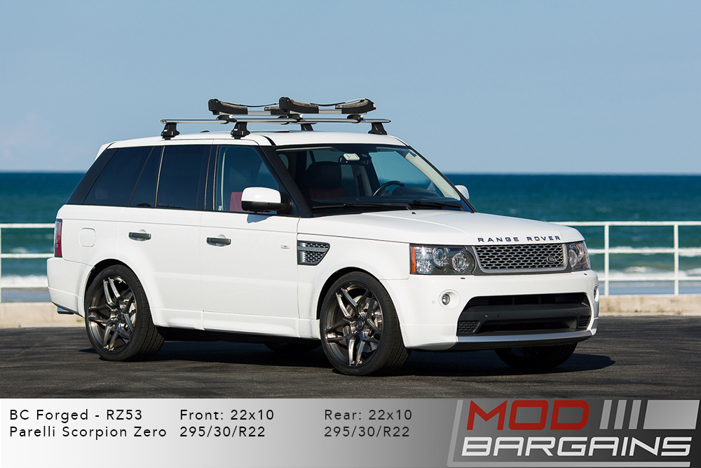Range Rover Sport Forged RZ053 Gunmetal Brushed Black Wheels Modbargains