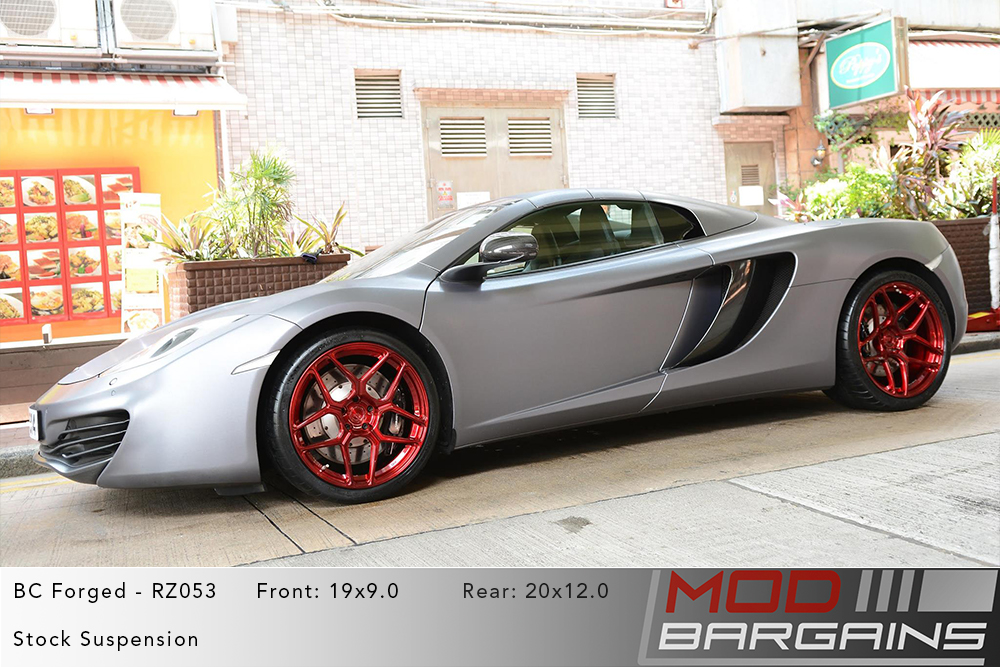 Mclaren 12C BC Forged RZ053 Red Wheels Modbargains