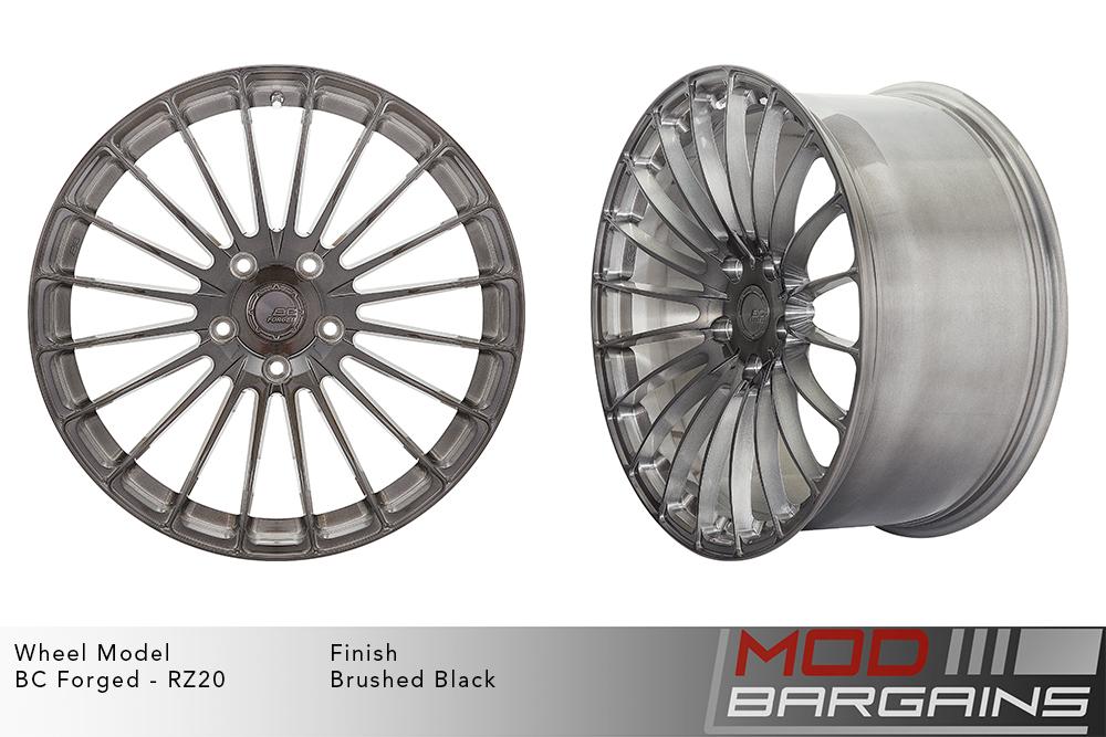 BC Forged RZ20 Monoblock Forged Aluminum 20 Spoke Concave Wheels Brushed Black Gunmetal Modbargains