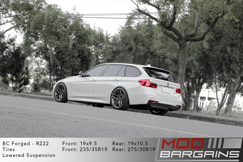 BMW F31 320i Wagon BC Forged RZ22 Gunmetal Wheels Modbargains