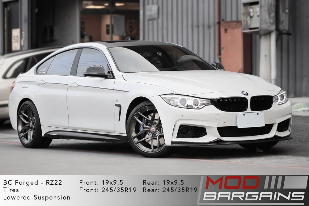 BMW F36 435i Gran Coupe BC Forged RZ22 Gunmetal Wheels Modbargains