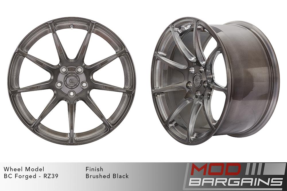 BC Forged RZ39 Monoblock Forged Aluminum 9 Spoke Concave Wheels Brushed Black Gunmetal Modbargains