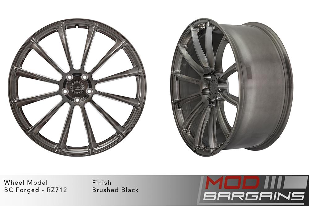 BC Forged RZ712 Monoblock Forged Aluminum 12 Spoke Concave Brushed Black Gunmetal Wheels Modbargains
