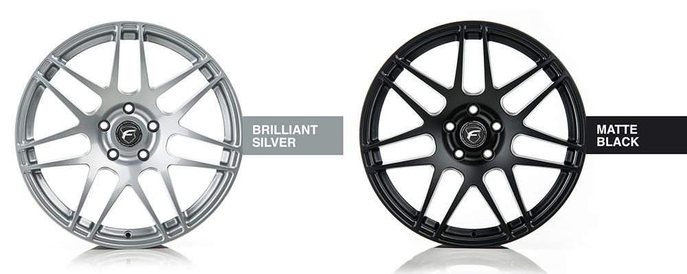Forgestar Wheel Color Options Brilliant Silver Matte Black Modbargains
