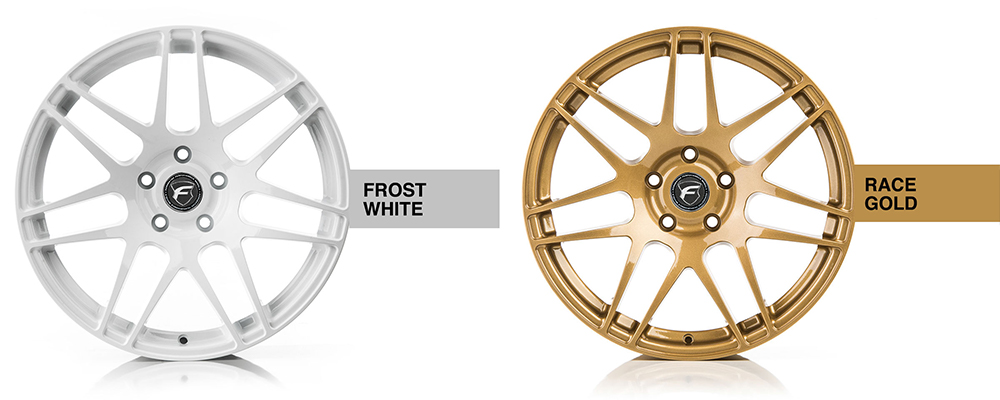 Forgestar Wheel Color Options Frost White Race Gold Modbargains