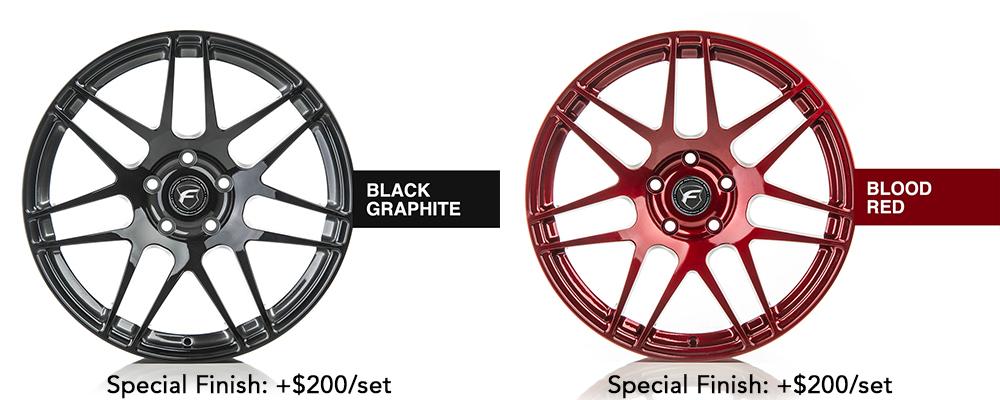 Forgestar Wheel Color Options Black Graphite Blood Red Modbargains