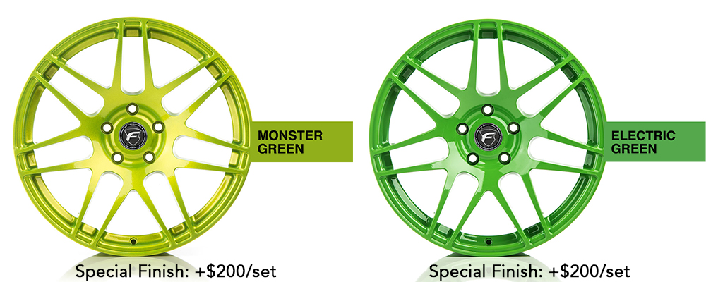 Forgestar Wheel Color Options Monster Green Electric Green Modbargains