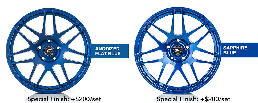 Forgestar Wheel Color Options Anodized Flat Blue Sapphire Blue Modbargains