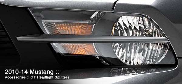 3dCarbon Headlight Splitters Mustang GT