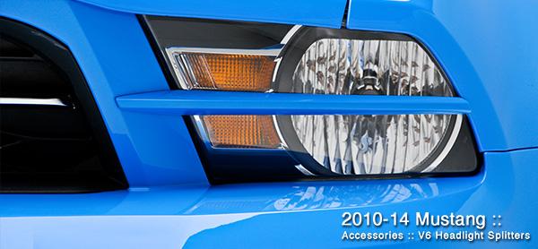 3dCarbon Headlight Splitters Mustang V6