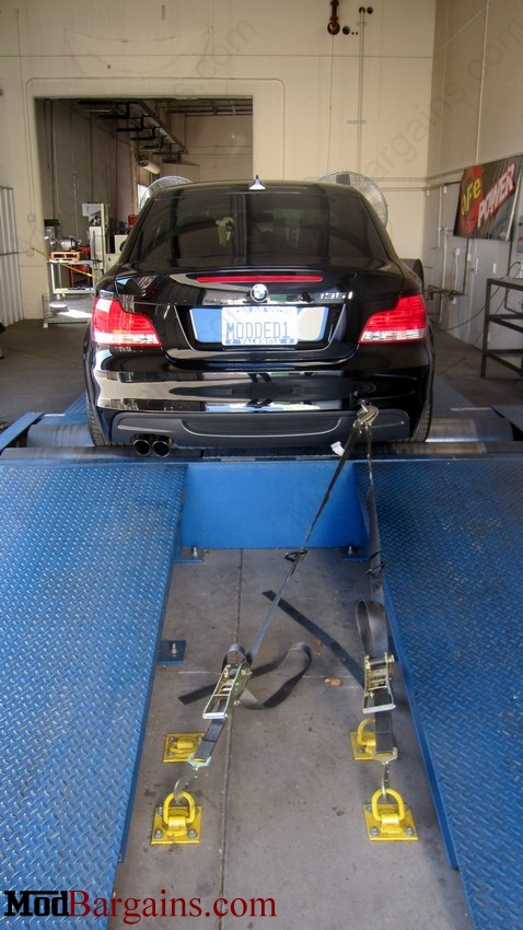aFe Power MACH Force Cat-Back Exhaust Rear End on BMW 135i E82