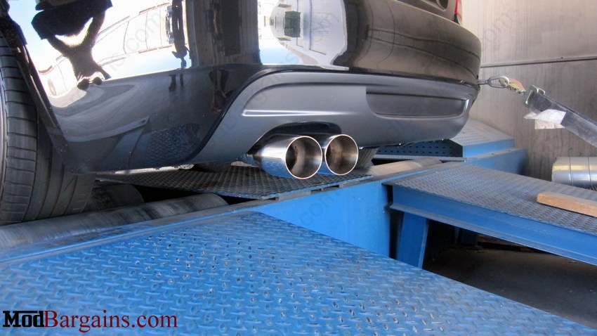 aFe Power MACH Force Cat-Back Exhaust w/ Polished Tips Installed