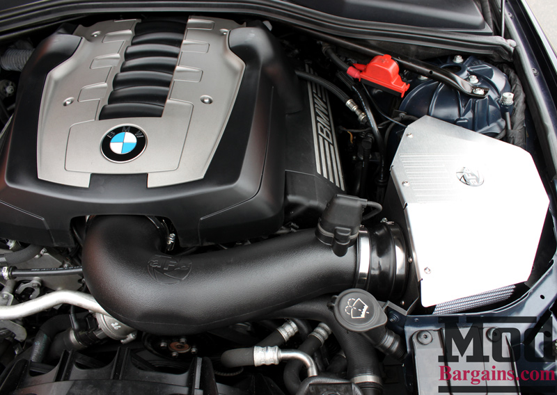 aFe Intake Installed on BMW E60 (2)