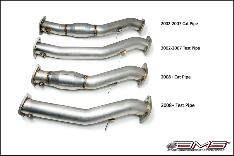 AMS Performance Turbo Tuner Kit for 2002 and Up Subaru WRX/STI Test Pipes and Cat Pipes