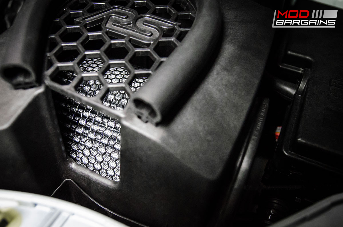 AMS High Flow Air Filter for 2016+ Ford Focus RS Installed
