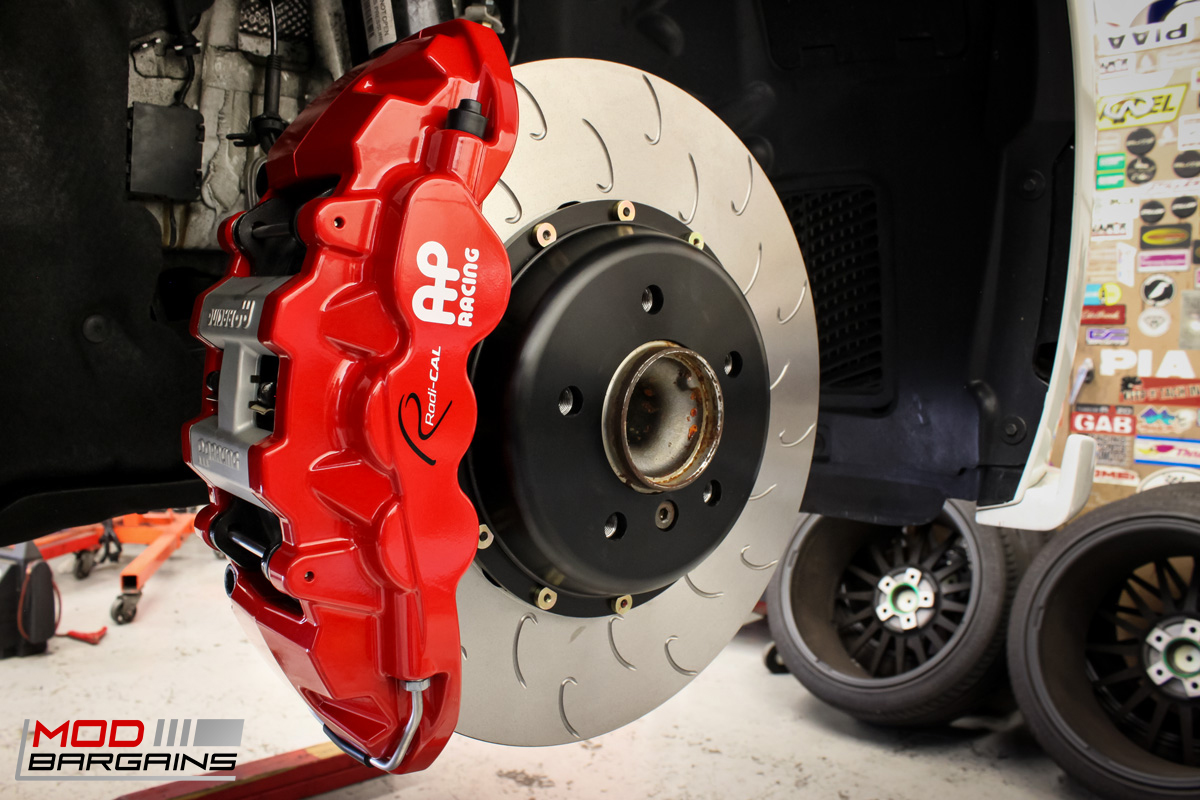 AP Racing Radi-CAL BBK Red Caliper w/ J-Hook Rotor