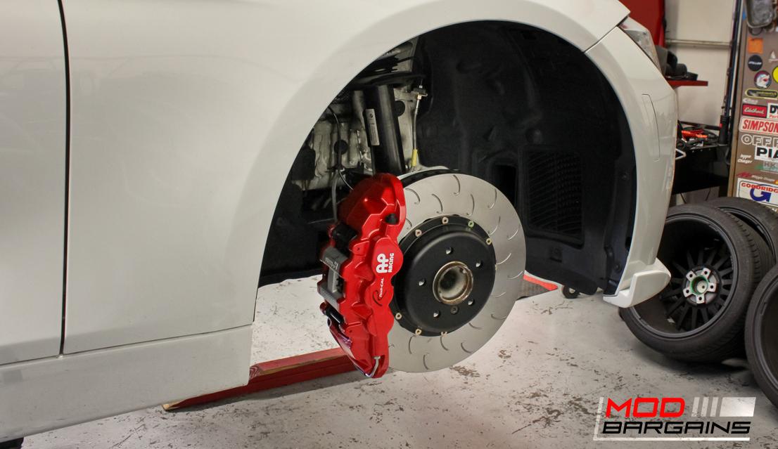 AP Racing Radi-CAL Red Caliper w/ J-Hook Rotor