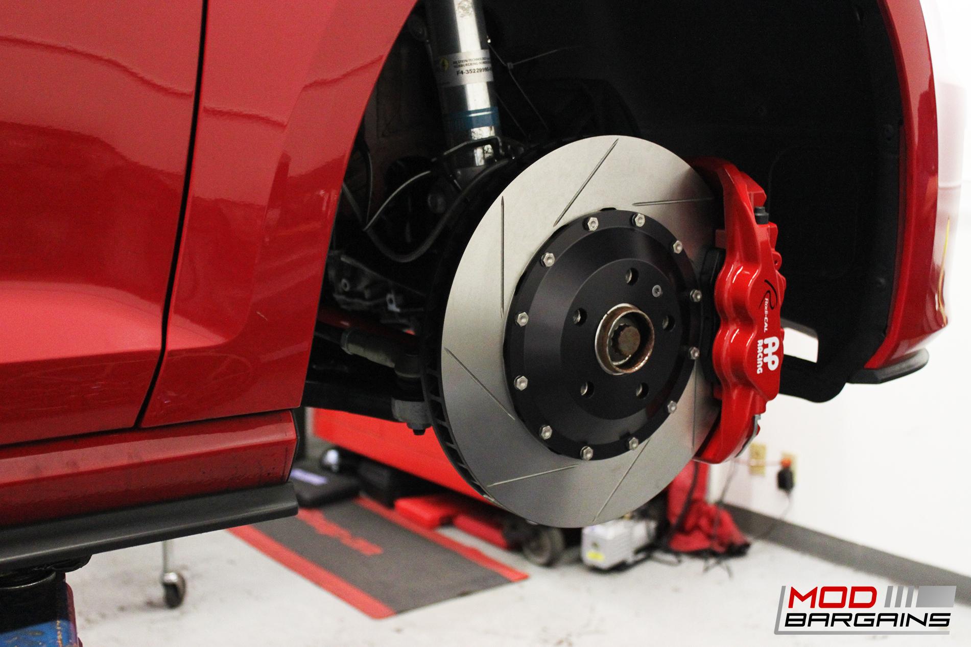AP Racing Radi-CAL Red Caliper w/ Slotted Rotor - APR34410SR