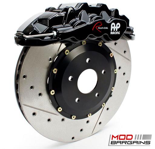 AP Racing Radi-CAL Black Caliper w/ Cross-Drilled & Slotted Rotor