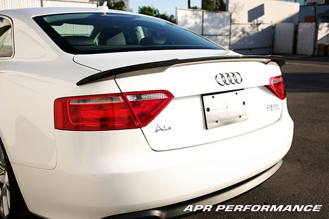 APR Performance Carbon Fiber Rear Deck Spoiler Installed Audi A5 AS-105855
