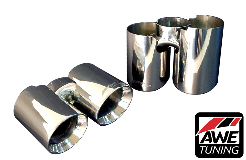 AWE Tuning Performance Exhaust Polished Tips for Porsche 997